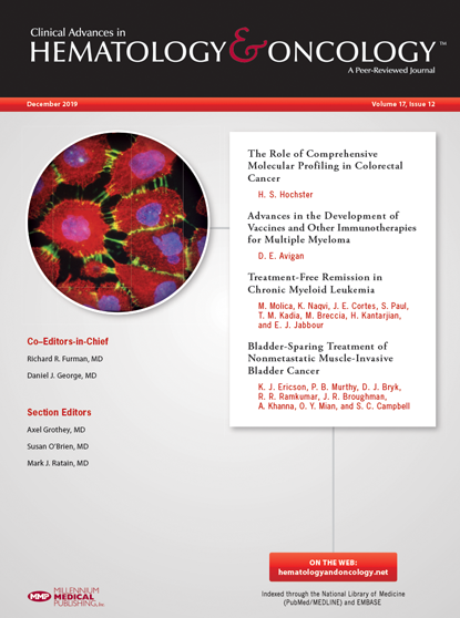 December 2019 Hematology and Oncology journal